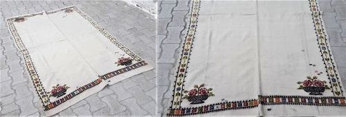 Turkish Konya Karapinar Kanavice Bridal Bedspread