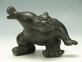 Antique Brass Figurine of Sumo / Demon