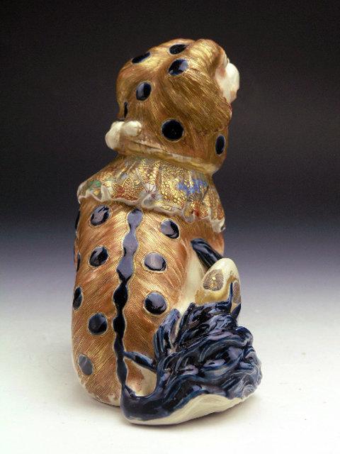 Japanese Satsuma Shishi Figurine Meiji Era