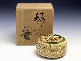 Japanese Kiseto Incense Container by Yamaguchi Shigeru