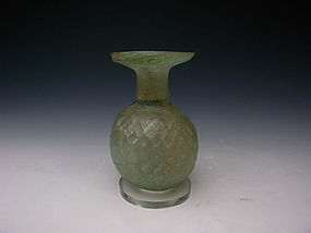 Roman Glass, Flask, 3rd century AD