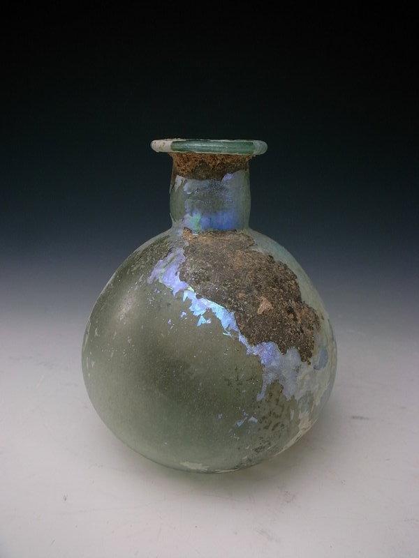 Roman Glass, Syrian Bottle, 3rd ~ 5th century AD