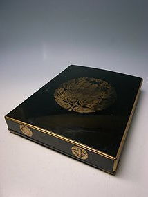 Antique Meiji Period Kyoten Maki-e Lacquer Box