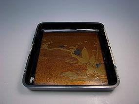 Antique Edo Period Hiramaki-e Lacquer Tray
