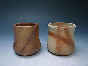 Bizen Kaki Set by Moritoki Taiyu