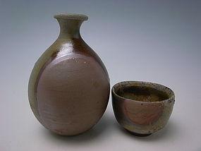 Bizen Sake Set by Yoshimoto Tadashi