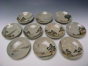 Meiji Period Set of Plates