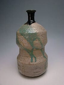Edo Period Agano Bottle