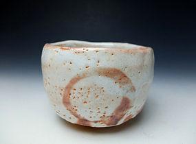 White Shino Chawan by Hayashi Kotaro