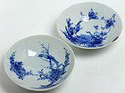 Edo Period Set of Two Seto Porcelain Plates