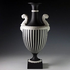 Wedgwood Black and White Panther Vase