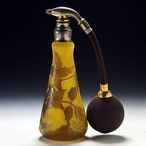 Art Nouveau Cameo Glass Atomizer by Emile Gallé