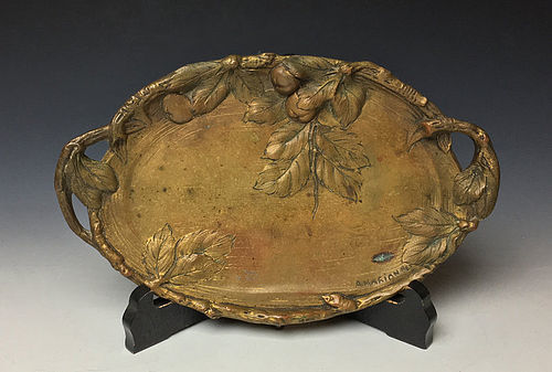Art Nouveau Bronze Tray by Albert Marionnet