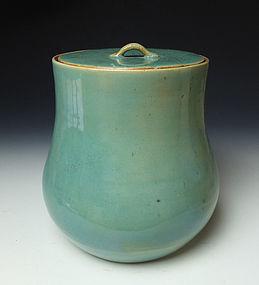 Edo-Meiji Period Agano Mizusashi from the Shirakawa Kiln