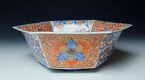 19th Century Imari Porcelain Bowl (a)
