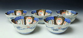 Antique Imari Porcelain Mukozuke Set