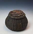 Meiji Period Bronze Inkwell