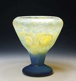Art Nouveau Daum Nancy Intercalaire Glass Cup