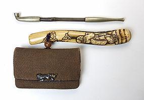 Meiji Period Kiseru Set