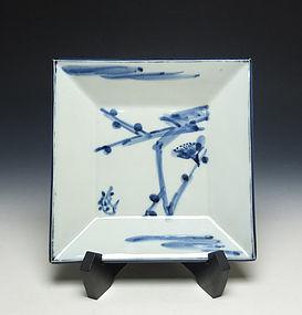 Sometsuke Porcelain Plate by Kondo Yuzo (LNT)