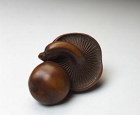 Edo Period Wood Netsuke