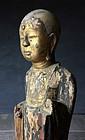Muromachi Period Statue of Jizo Bosatsu with Zushi