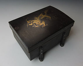 Meiji Period Cigarette Box with Dragon Motif