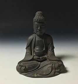 Japanese 15th Century Wooden Sculpture of Buddha