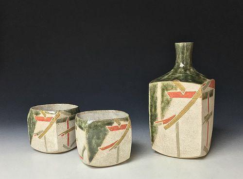 Tokkuri and Guinomi Set by Wada Morihiro