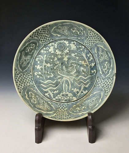 Large Antique Southeastern Asian Plate