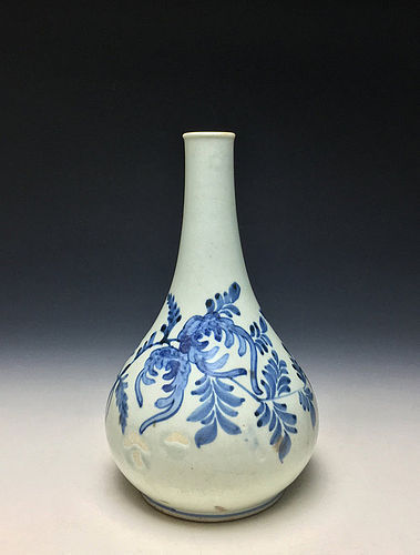 Korean Joseon Period Blue and White Vase