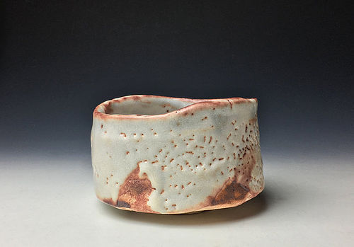 White Shino Chawan by Kato Ryotaro