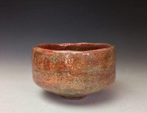 Edo Period Aka Raku Chawan, Omotesenke