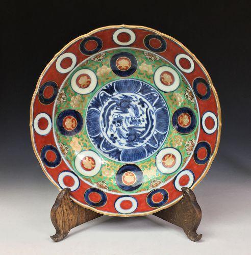 Meiji Period Imari Deep Plate