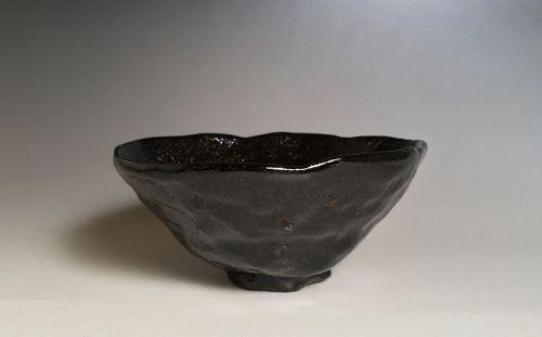 Edo Period Kuro Raku Chawan