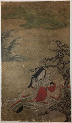 Set of Six Edo Period Paintings