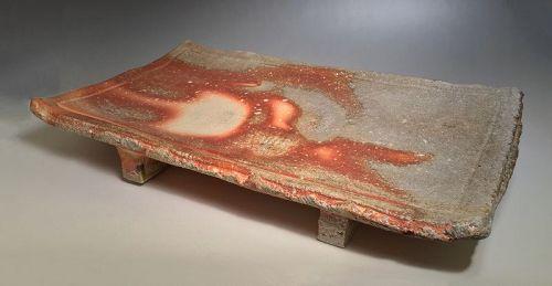Large Shigaraki Tray by Furutani Michio