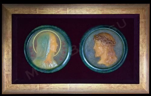 Set of Two Pâte de Verre Works by Almaric Walter, Nancy�Christ�Mary
