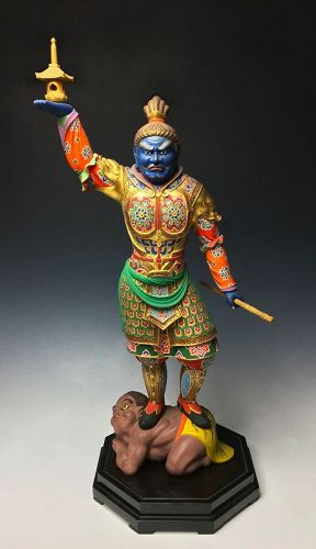 Sculpture of Bishamonten by Ichikawa Tetsuro