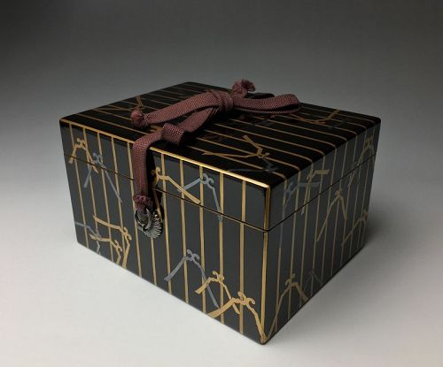 Meiji-Taisho Period Maki-e Lacquer Chabako