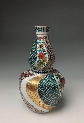 Kutani Porcelain Vase by Kitade Seiko