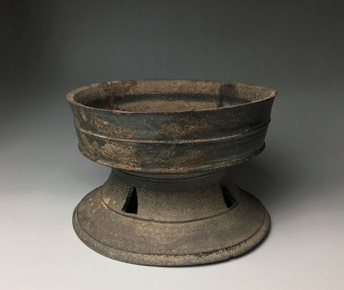 Korean Shiragi Pedestal Dish, Silla Kingdom