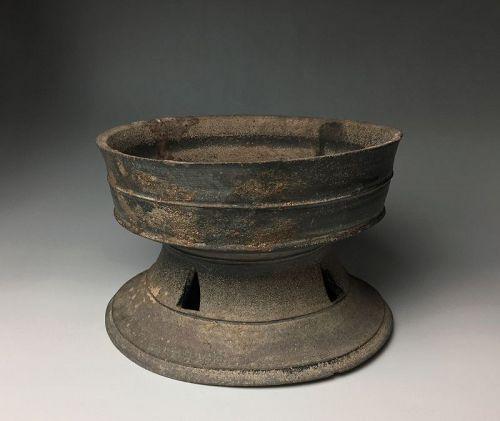 Korean Shiragi Pedestal Dish, Silla Kingdom