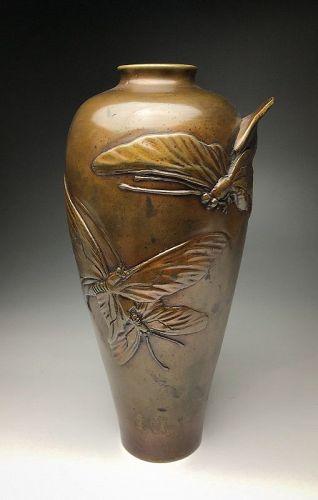 Meiji Period Bronze Vase
