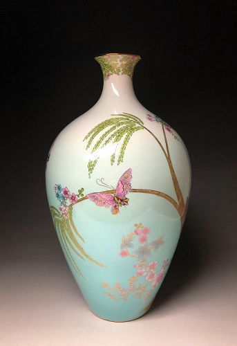 Jade Butterfly Vase by Wedgwood