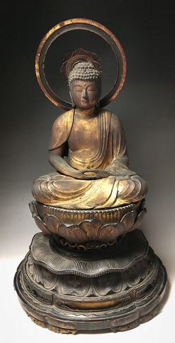 Japanese Muromachi Period Statue of Buddha