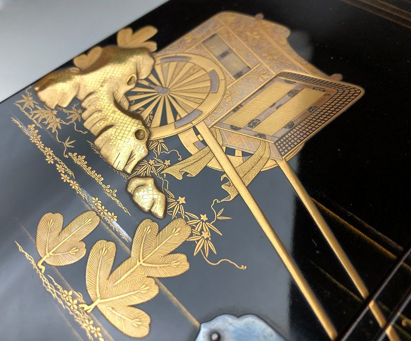 Edo-Meiji Period Maki-e Suzuri-bako
