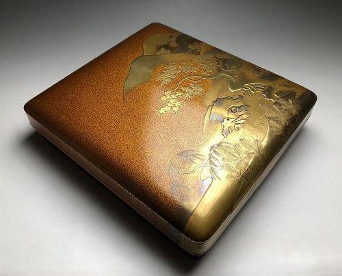 Edo-Meiji Period Maki-e Suzuki-bako