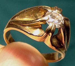14K Mans .43 CARAT SOLITAIRE DIAMOND RING