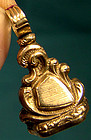 19thC 12K & ROCK CRYSTAL WATCH FOB